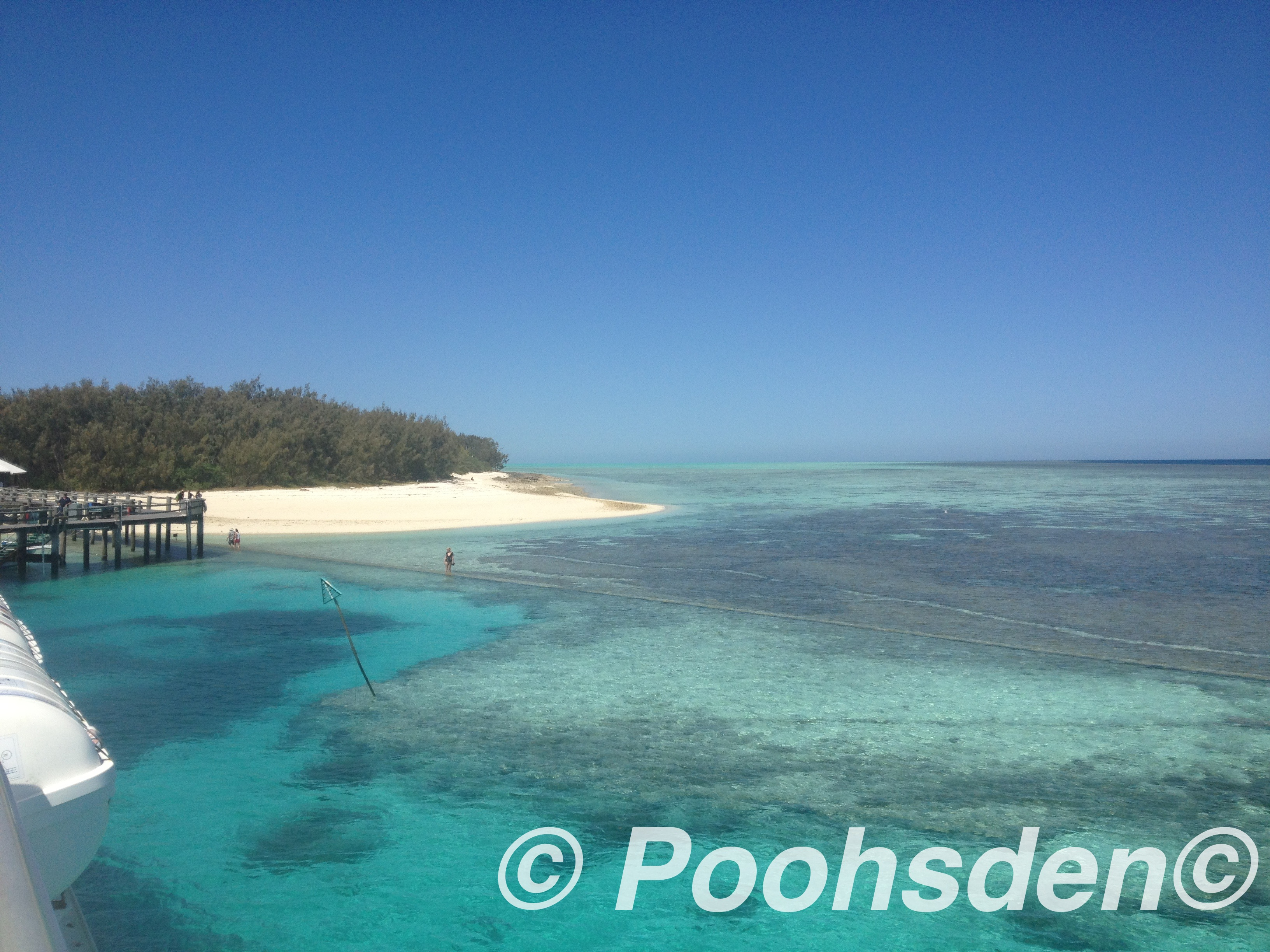 Taking in the perfectly blue waters at Heron Island
